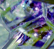 The world in a soap bubble. Sticker
