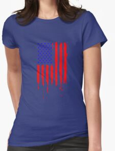 Dripping Blue Red American Flag T-Shirt