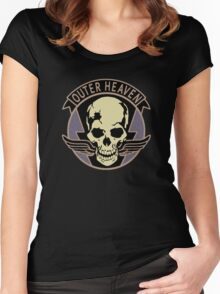 Metal Gear Solid V - Outer Heaven (Black) Women's Fitted Scoop T-Shirt