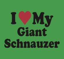 I Heart Love Giant Schnauzer Kids Clothes