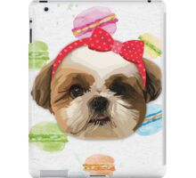 Shitzhu Dog with Headband iPad Case/Skin
