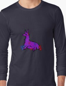 Llama with flowers Long Sleeve T-Shirt