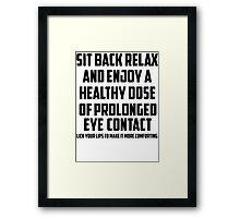 Bo Burnham - Prolonged Eye Contact, 2.0 Framed Print