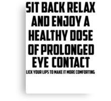 Bo Burnham - Prolonged Eye Contact, 2.0 Canvas Print