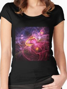 Night at Wonderland - Abstract Fractal Artwork Women's Fitted Scoop T-Shirt