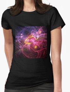 Night at Wonderland - Abstract Fractal Artwork Womens Fitted T-Shirt
