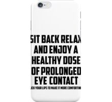 Bo Burnham - Prolonged Eye Contact, 2.0 iPhone Case/Skin