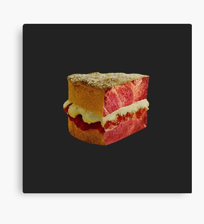 Meat Cake Canvas Print