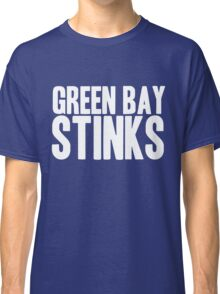 Detroit Lions - Green Bay Stinks - White Text Classic T-Shirt