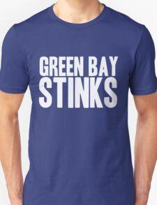 Detroit Lions - Green Bay Stinks - White Text T-Shirt