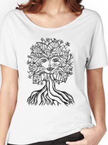 Tree fairy, nature, earth, peace, forest, green, save, planet, day, Women's Relaxed Fit T-Shirt