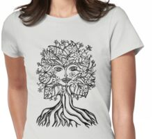 Tree fairy, nature, earth, peace, forest, green, save, planet, day, Womens Fitted T-Shirt