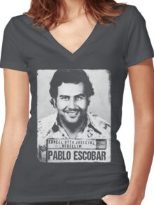 Pablo Escobar Women's Fitted V-Neck T-Shirt