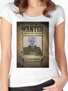 Buffy The Judge Wanted 1 Women's Fitted Scoop T-Shirt