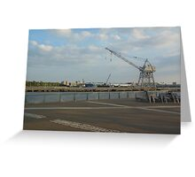 Views of Red Hook - Ocean, Port and Crane Greeting Card