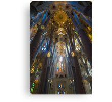 Inside the Sagrada Familia Canvas Print