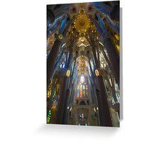 Inside the Sagrada Familia Greeting Card