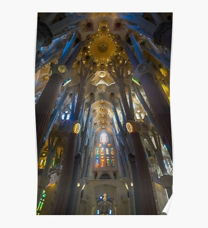 Inside the Sagrada Familia Poster