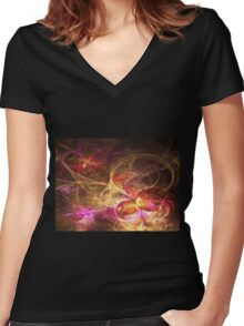 Leaving Home, Coming Home - Abstract Fractal Artwork Women's Fitted V-Neck T-Shirt