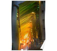 Rainbow Glass, sagrada Familia Poster