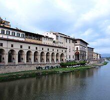 Banks of River Arno by Karen E Camilleri