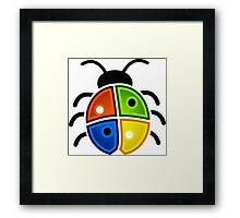 coloured bug Framed Print