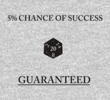 D20 Five Percent Success Guaranteed One Piece - Long Sleeve
