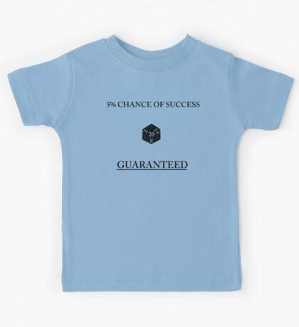 D20 Five Percent Success Guaranteed Kids Tee
