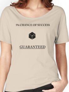 D20 Five Percent Success Guaranteed Women's Relaxed Fit T-Shirt
