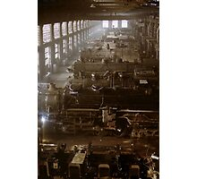 Vintage Railroad Locomotive Shop - 1942 Photographic Print
