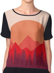 Red Mountains Chiffon Top