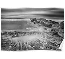 Monochrome ocean scene Poster