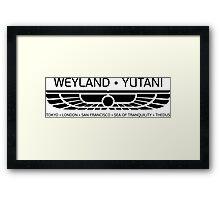 Weyland Yutani Framed Print
