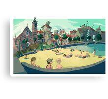 Playa de Bouzas Canvas Print