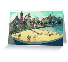 Playa de Bouzas Greeting Card