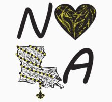 I heart NOLA (Black and Gold) by StudioBlack