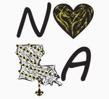I heart NOLA (Black and Gold) Kids Clothes
