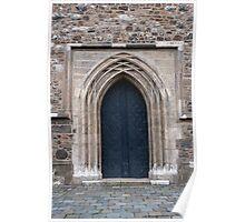 Medieval door. Poster