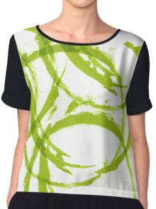 Green stain rings abstract background Chiffon Top