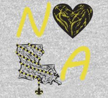 I heart NOLA (Black and Gold) 2 by StudioBlack