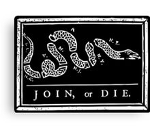Join or Die - Black and White Canvas Print