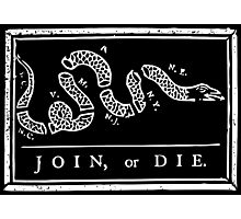 Join or Die - Black and White Photographic Print