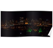 Edmonton, AB Skyline At Night Poster