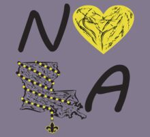 I heart NOLA (Black and Gold) 3 by StudioBlack