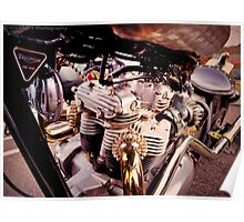 Steampunk Triumph by Byron Croft, Croft Photography Poster