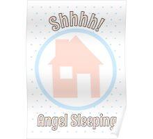 Shhh! Angel Sleeping Poster
