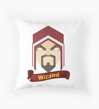 Wizzard 6th Level Throw Pillow