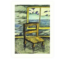 Solitary chair Art Print