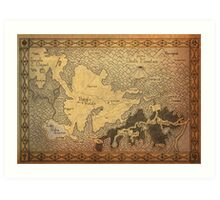 Zelda - A map of Hyrule Art Print