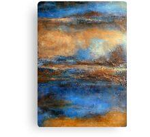 Fluid Acrylic Painting with Heavy Texture SKYRIM Canvas Print